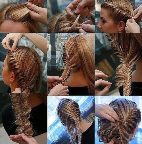 Фото мастер-класс по прическам для длинных волос.