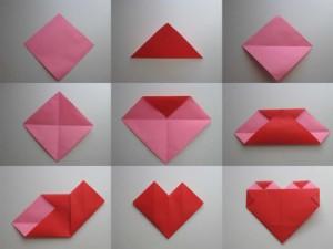как сложить оригами сердце