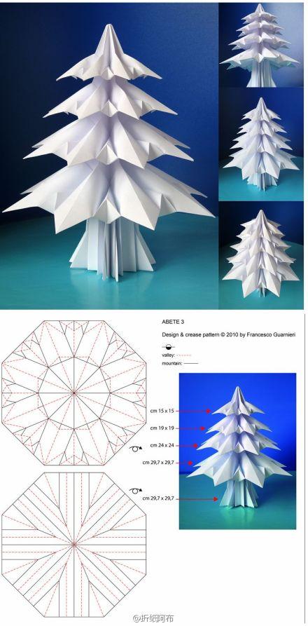 как сложить елочку оригами