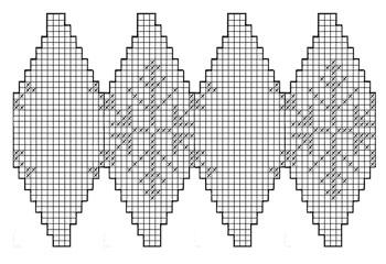 Схема узора для новогоднего шарика
