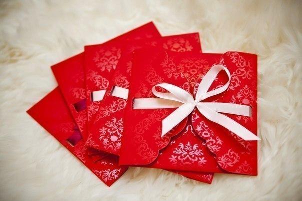 Как сделать новогодний конверт своими руками