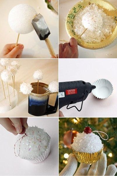 Как сделать новогодние игрушки -пирожные своими руками