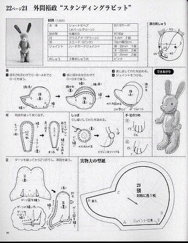 выкройка кролика подетальная
