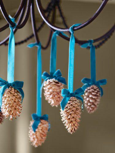 Новогодние украшения из шишек своими рук