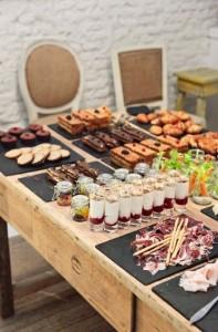 идея сервировки летних закусок