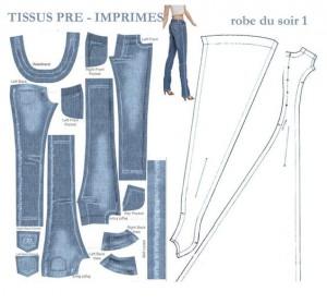 выкройка джинсов для барби