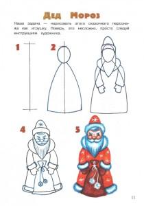 Новогодние детские рисунки
