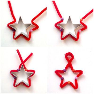 как сделать звезду  из синельной проволоки