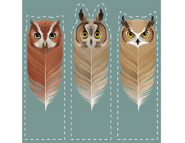 Закладки для книги своими руками сова