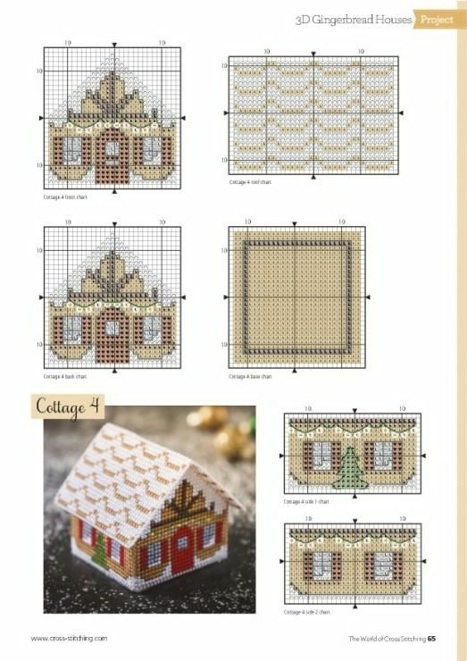 Вышивка схемы объемные домики 1