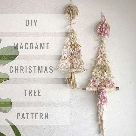 плетеная елка  макраме