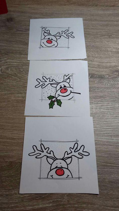 новогодние рисунки открытки своими руками