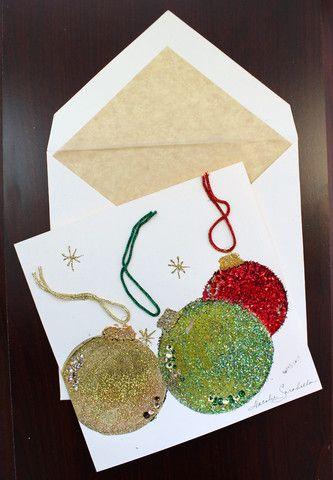 новогодние рисунки открытки с блестками