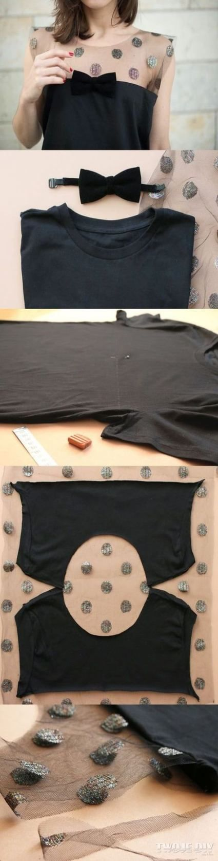 Переделка одежды своими руками из футболки в платье
