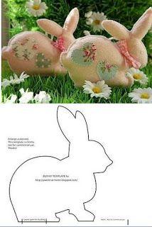 пасхальный кролик выкройка