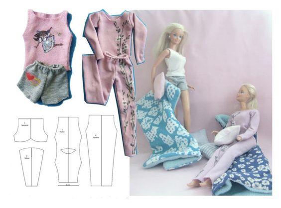 Спортивный костюм для Барби с выкройкой